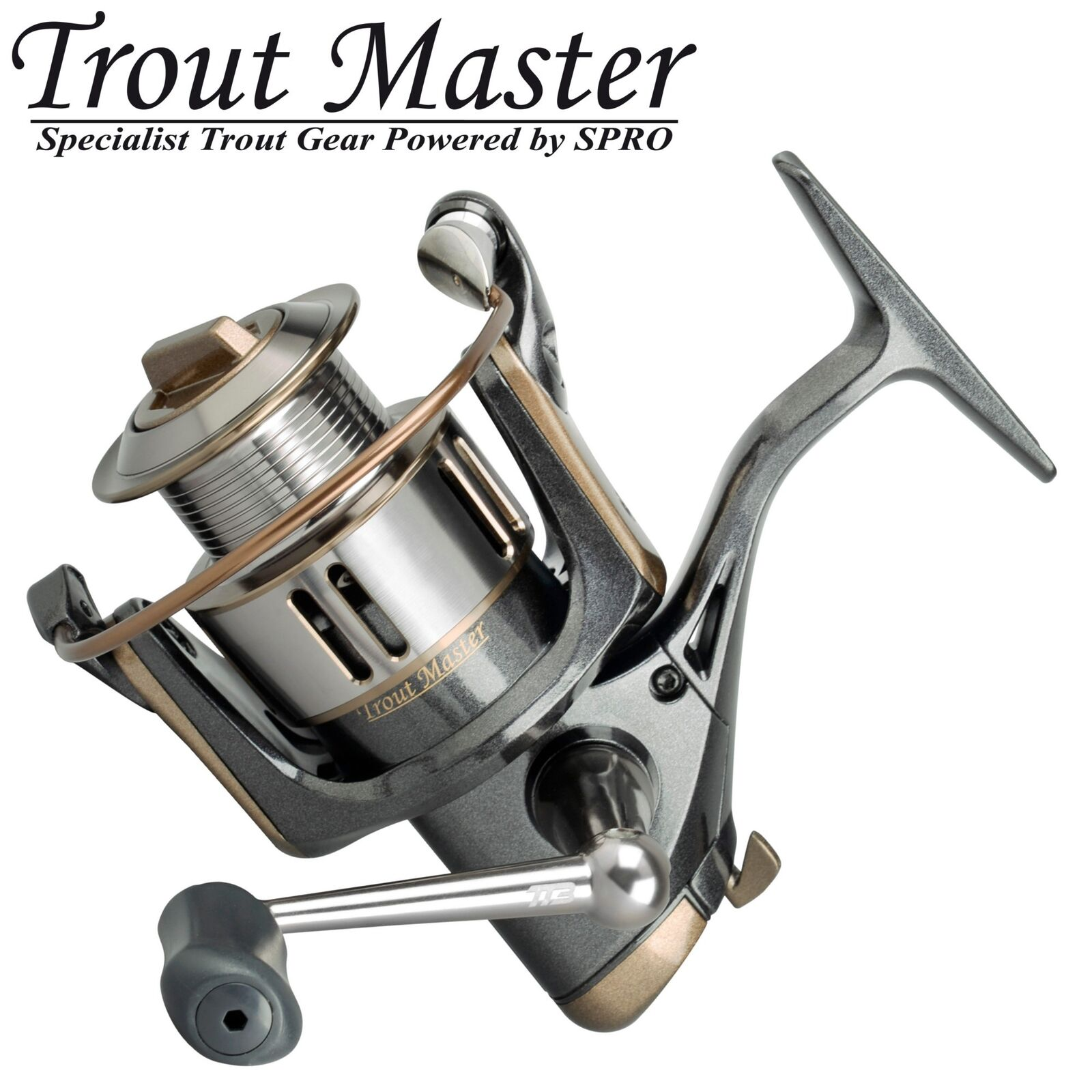 Trout Master Tactical Trout 3 - Stationärrolle zum Forellenangeln, Forellenrolle