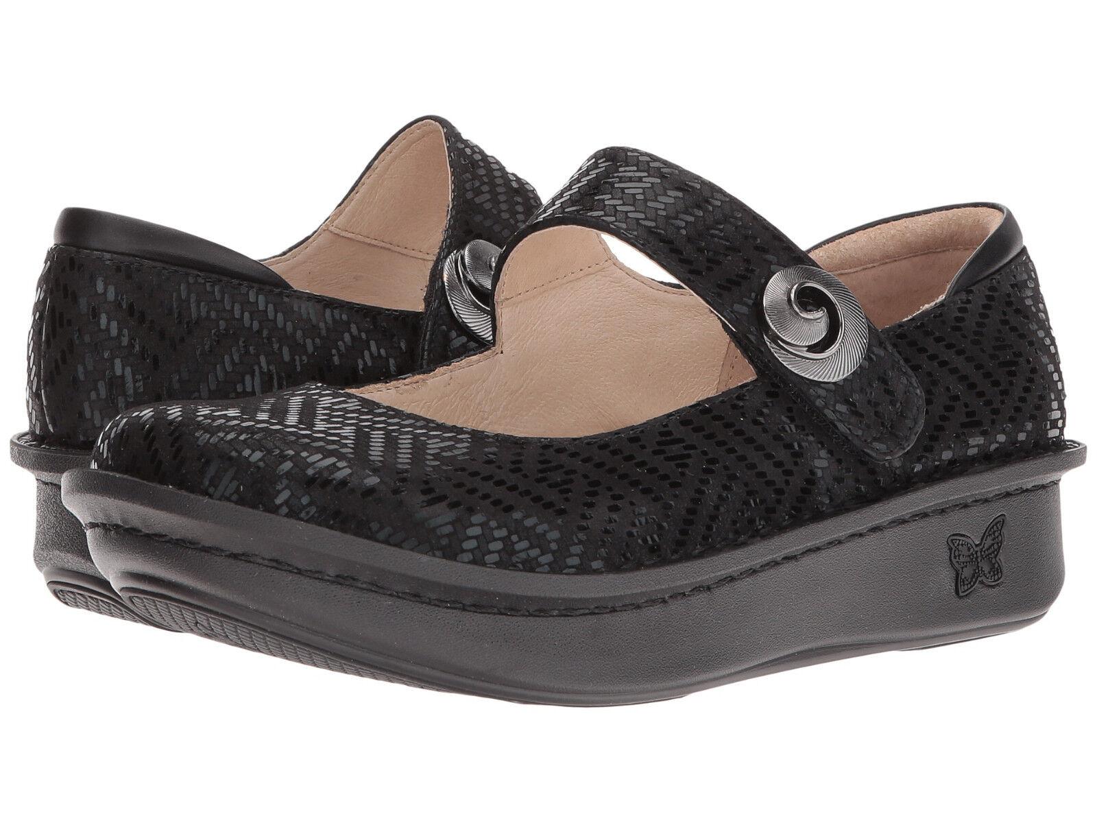 Women's Alegria Comfort Clogs Paloma Black Dazzler PAL-530