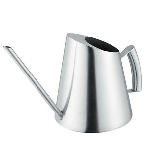 Stainless Steel Watering Can Pot Indoor House Plants Long Spout Watering Can ...