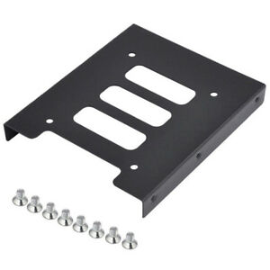 Black-2-5-034-SSD-to-3-5-034-Bay-Hard-Drive-HDD-Mounting-Dock-Tray-Bracket-Adapter-Top