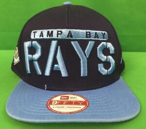 cheap for discount 7397b d3ca4 Image is loading Tampa-Bay-Rays-New-Era-9Fifty-Snapback-Hat-