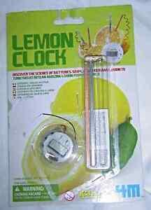 4M Lemon Powered Clock 4464 Kit New