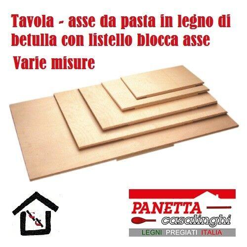 PANETTA ASSE SPIANATOIA TAVOLA BLOCCA ASSE PASTA FRESCA LEGNO BETULLA 76x50