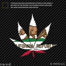 420 California Marijuana Leaf Sticker Decal Self Adhesive Vinyl cannabis hemp