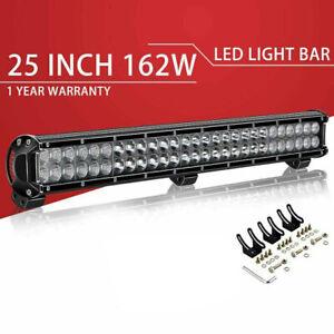 25inch-162W-Dual-Row-Straight-Led-Light-Bar-Flood-Spot-For-Offroad-SUV-ATV-24