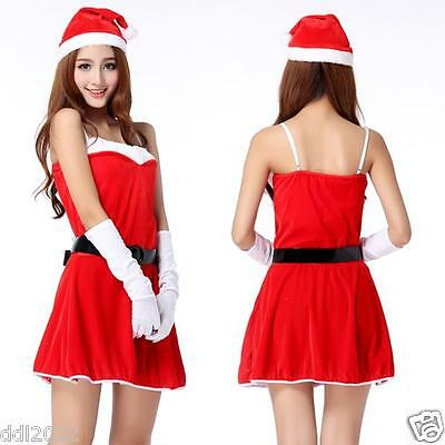 Sexy Women Santa Christmas Costume Fancy Dress Xmas Office Cosplay Party Outfit