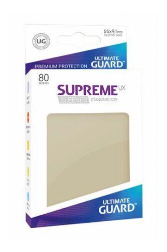 Supreme UX Sleeves Standard Sand 80 Stück Kartenhüllen Hüllen Ultimate Guard