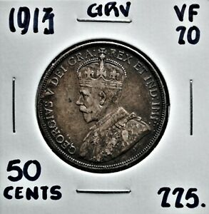 1913-Canada-50-Cents-VF-20