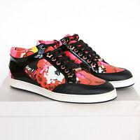 Jimmy Choo Floral Print Orange & Pink Low Top Shoes Miami Sneakers 38-it/8