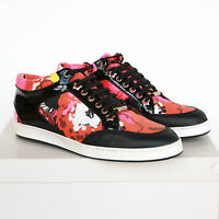 Jimmy Choo Floral Print Orange & Pink Low Top Shoes Miami Sneakers 38-it/8