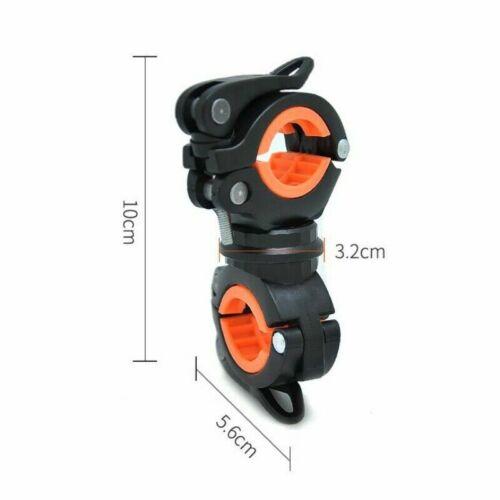 10x5.6x3.2cm 360° Rotation Bike Handlebar Flashlight Mount Bracket Torch Holder