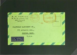 Brazil-1947-Metered-Airmail-Cover-to-USA-Z2849