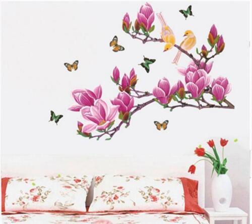 Wandaufkleber Wandtattoo Magnolie Blumen Magnolia Lily Wand sticker Wohnzimmer