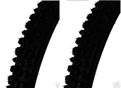 PAIR Centre Raised 26 x 1.75 Mountain Bike//Cycle Tyres black New Town Street