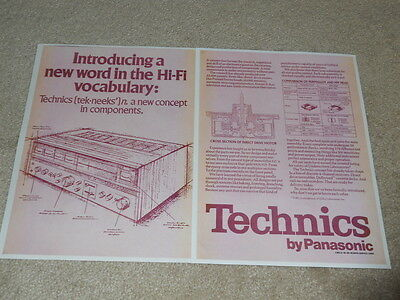 1. Technics Ad, 2 Pg , 1973, Artikel, Quad Info, Selten Weniger Teuer