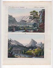 Schweiz Berge Landschaft Gebirge - Original Kupferstich BERTUCH 1800