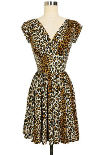 ED2188 Trashy Diva Sandy Dress 50s Leopard Size 12 - image 1