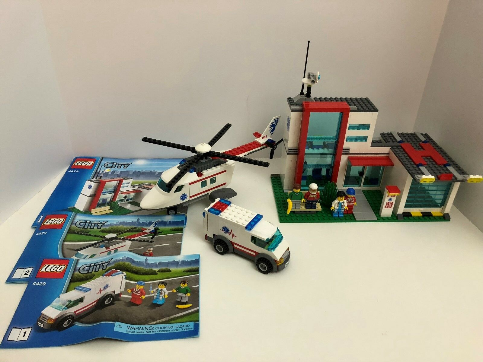 LEGO CITY*HELICOPTER RESCUE**4429*** COMPLETE W/ FIGS / INSTRUCTIONS