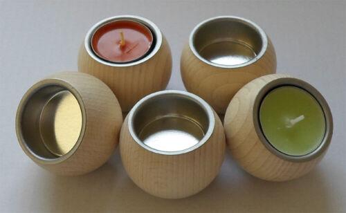 Teelichthalter Kugelform mit Metalltülle #9009