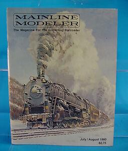 MAINLINE MODELER MAGAZINE JULY/AUGUST 1980 CN J-3, K-3, 4-6-2 ERIE PAINT GUIDE