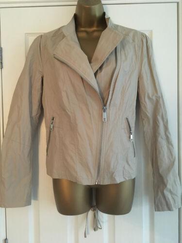 BNWT NEXT Outerwear Ladies Stone Biker Jacket Lace Up Back RRP £55