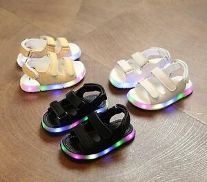 Kids-summer-LED-sandals-new-baby-boys-girls-night-light-shoes-casual-Beach-shoes