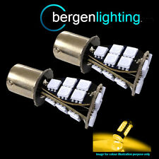 382 1156 BA15s 245 XENON AMBER 21 SMD LED FRONT INDICATOR LIGHT BULBS FI201701