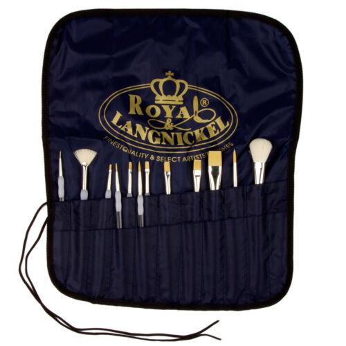12 Cepillos De Royal Agarre Suave Value Pack Incluye Gratis Cepillo De Lona portador