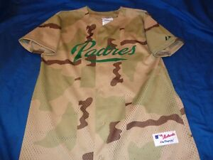 cheap for discount c0520 dae75 Details about Tony Gwynn Jr. #18 Majestic San Diego Padres MLB Jersey Youth  Large Camouflage