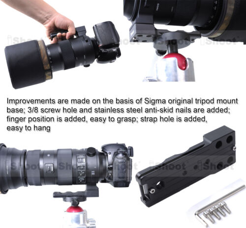 Lens Tripod Mount Ring Base Stand for Sigma 150-600mm F5-6.3 DG OS HSM /& Sports