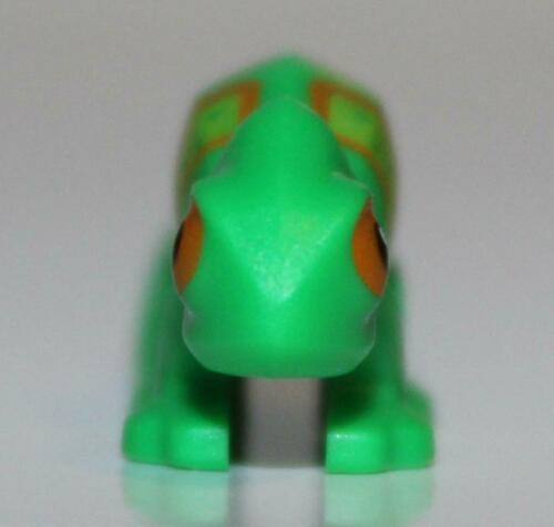 Lego Bright Green Chameleon with Lime and Orange Stripes Pattern