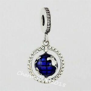 Authentic-Pandora-798021-Silver-S925-ALE-Spinning-Globe-Dangle-Charm