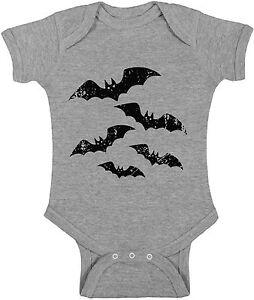 Baby Halloween Bat Boy Girl Short Sleeve Bodysuits Tops Halloween Bats Costume