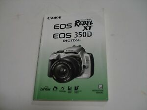 Details about Canon EOS Rebel XT XTi XS XSi 300D 20D Camera User Manual  Englsih Spanish