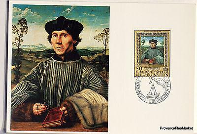 Briefmarken Aufstrebend Liechtenstein Postkarte Maximum Nr 57 Quentin Massys Eines Canon Lie02