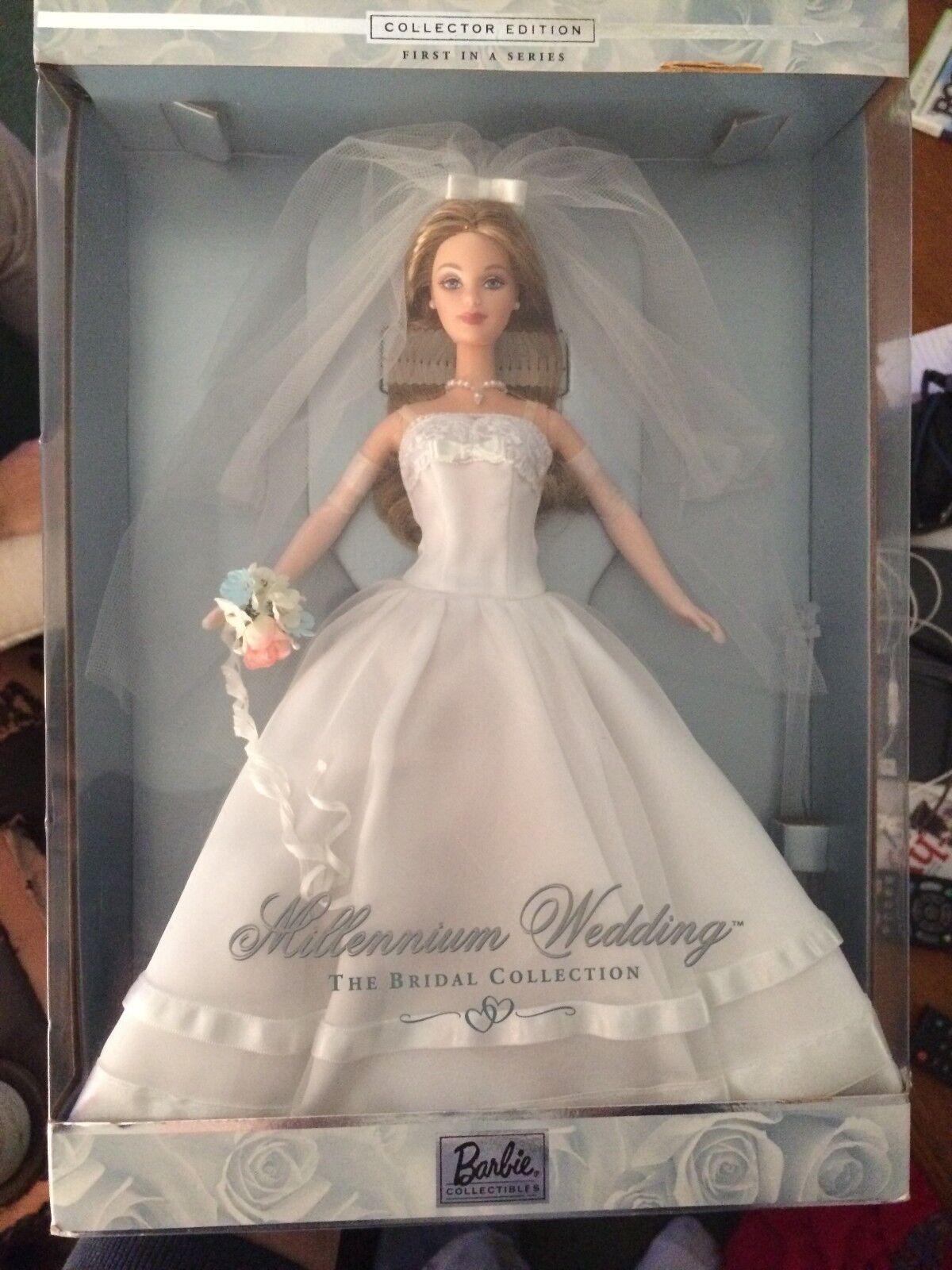 Collector Edition Millennium Wedding Barbie First in a Series Mattel 1999