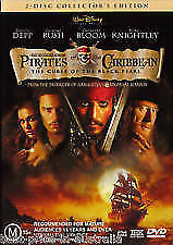 Pirates Of The Caribbean -The Curse Of The Black Pearl -2 DISCS-DVDS LIKE NEW R4