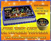Star Wars Edible Cake Topper Image Sheet Sugar Paper Decal Sticker Picture Photo