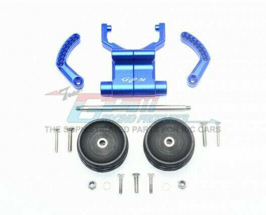 GPM Racing Traxxas E-Revo bluee Aluminum Adjustable Wheelie Bar ER2040R-B