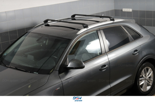 Roof Rack Cross Bars for Subaru Outback III estate 04-09 closed roof rails black