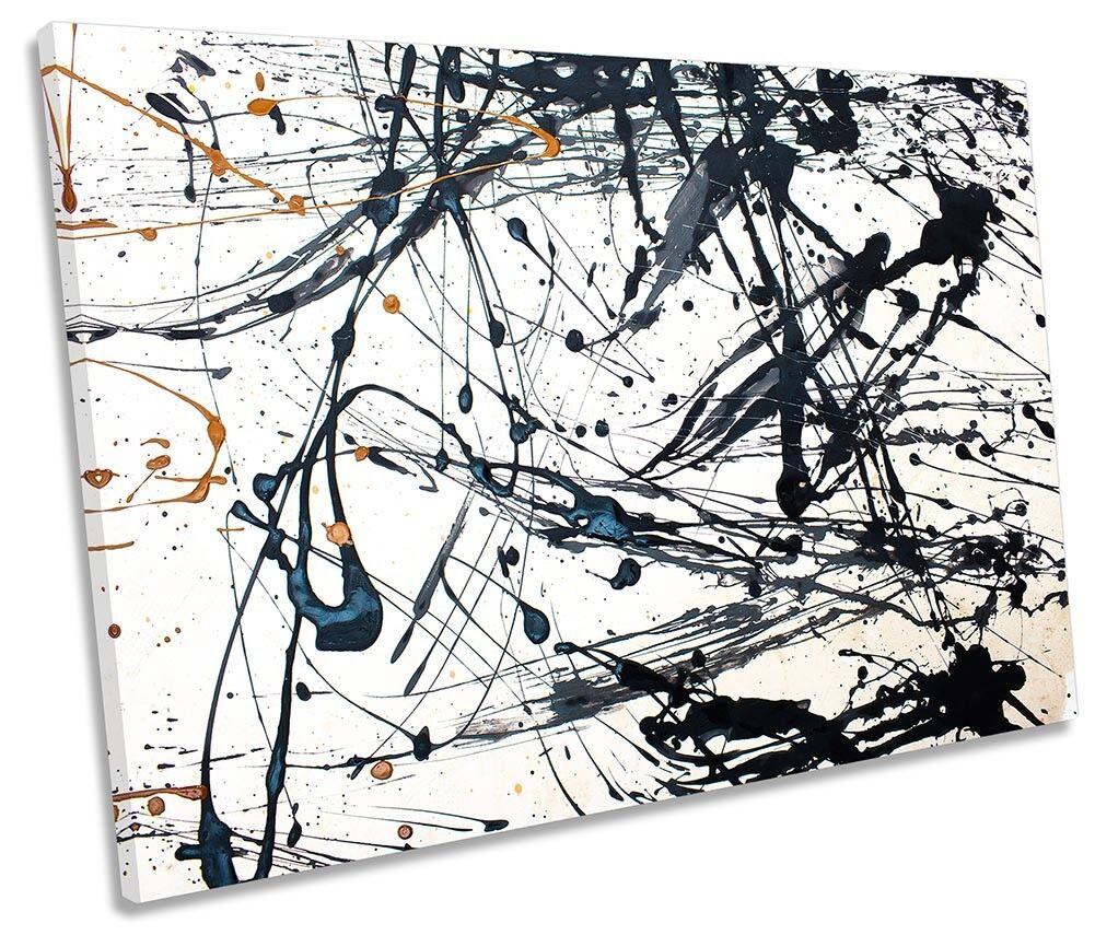 Pintura Abstracta las salpicaduras SINGLE SINGLE SINGLE LONA parojo arte de impresión de la obra de arte 0f5410