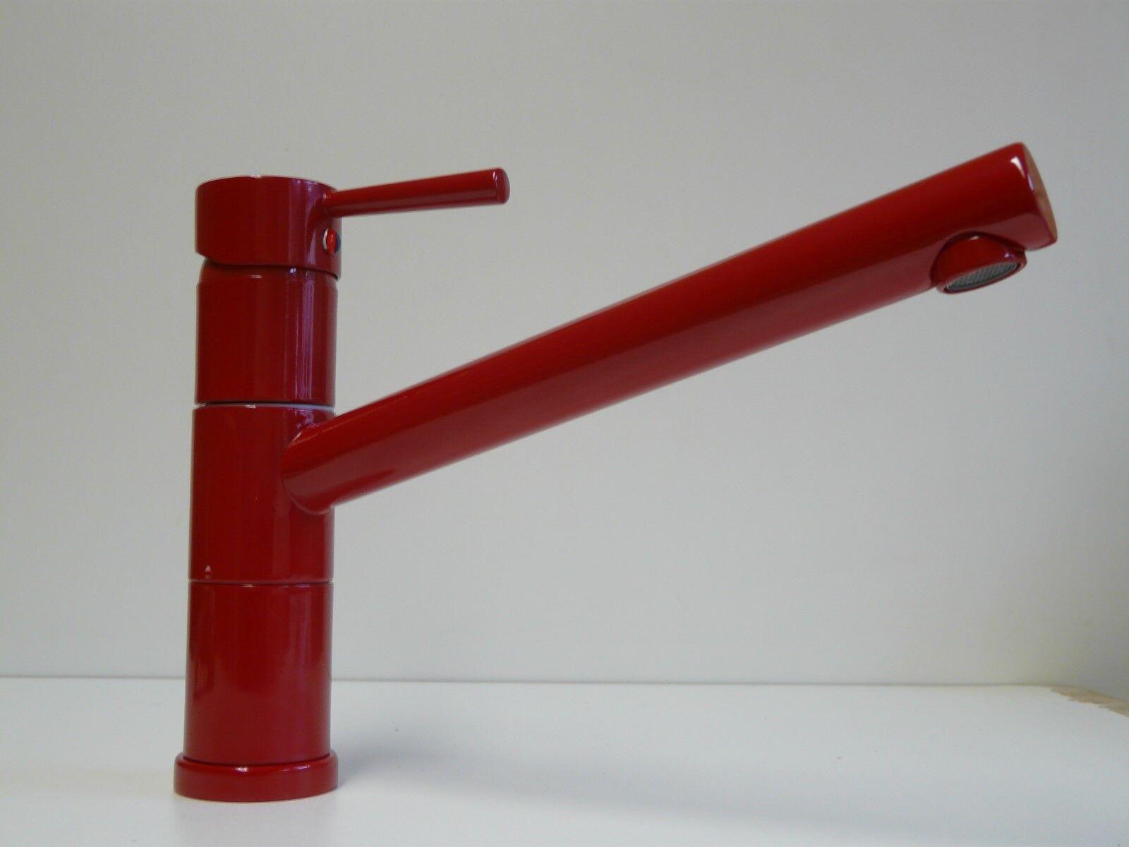 Küchenarmatur Rot (RAL 3003), Einhebelmischer, schwenkbar, Küche, Unicorn