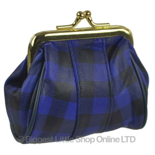NEW Ladies Soft Leather Classic Clasp COIN PURSE 28 Colours Black Handy Gift