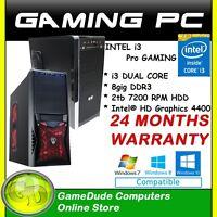 Intel I3-4170 Dual Core 3.7ghz Gaming Pc Computer 8gb Ram 2tb Hdd Intel Hd 4400