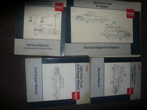 1989 Gm Gmc S  T Jimmy Truck Pick Up S15 Service Shop
