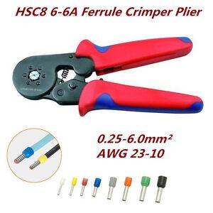 AWG-23-10-Self-Adjusting-Ratcheting-Ferrule-Crimper-Plier-HSC8-6-6A-0-25-6-0mm