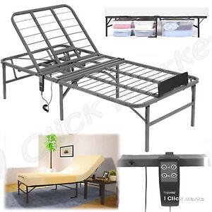 twin xl size electric head adjustable lift bed frame remote control foundation ebay. Black Bedroom Furniture Sets. Home Design Ideas