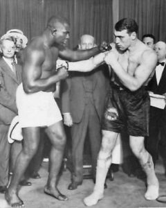 Details about Heavyweight Boxers GEORGE GODFREY vs PRIMO CARNERA Glossy  8x10 Photo Foul Poster