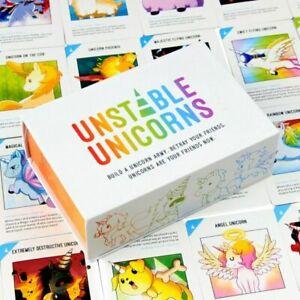 Teeturtle-tarjeta-inestable-Unicornios-juego-base-Fiesta-Familiar-Juego-estrategicos-de-tarjeta