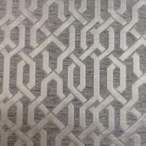 Aliso-Gris-Plata-Seda-De-Imitacion-Cortina-Jacquard-artesania-Tela-de-tapiceria